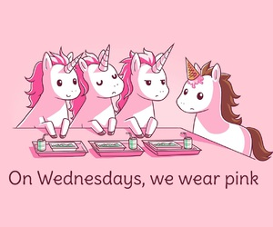 unicorn, pink, and mean girls image