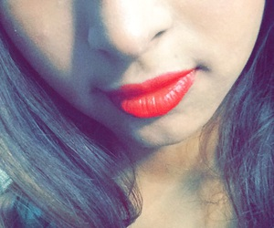 lips, red liös, and colombian girl image