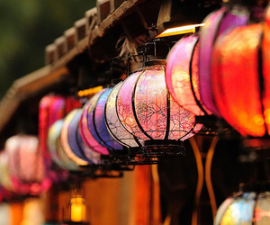 colorful, colorful lights, and japan image