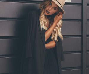 black, fall, and hat image