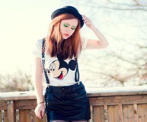 girl, lookbook, and mickey mouse image