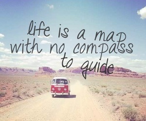 life, travel, and map image