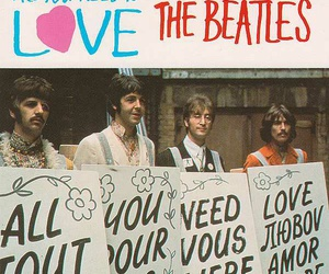 the beatles and all you need is love image