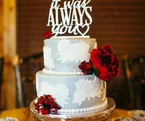cake topper, wedding, and wedding cake image