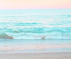 beach, pastel, and ocean image