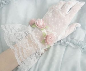 vintage, gloves, and lace image