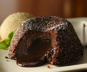 cake, chocolate, and molten image