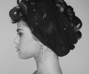 black and white, curls, and hairstyle image