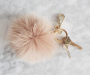 key, pink, and gold image