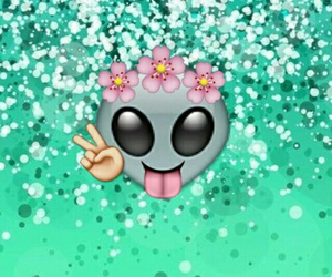 alien, glitter, and hipster image