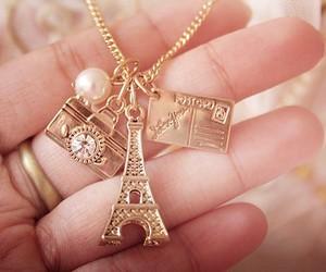 paris, necklace, and camera image