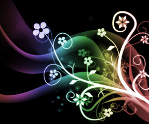 abstract, colors, and rainbow flowers image