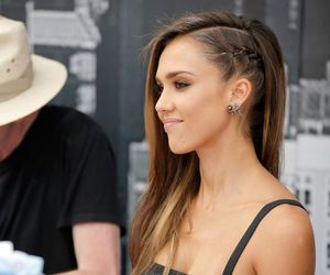 hair, jessica alba, and braid image