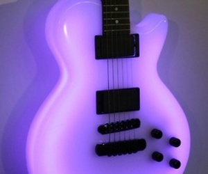 guitar, purple, and neon image