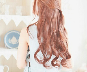 hair, hairstyle, and kfashion image