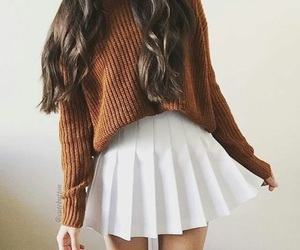 brown, cute outfit, and casual fashion image