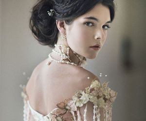 beautiful, dress, and pearls image