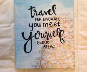 wanderlust, travel quote, and david mitchell image