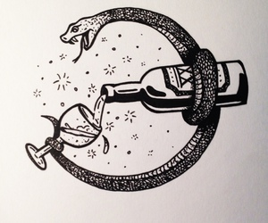 snake and wine image