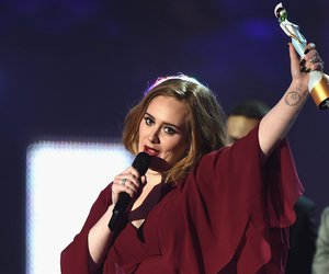 Adele, red, and winner image