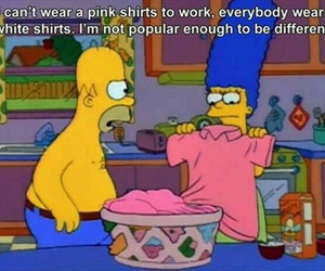 funny, pink, and simpsons image