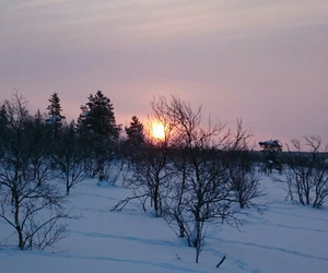 finland, winter, and lappi image