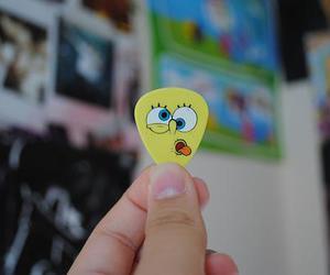 guitar and spongebob image
