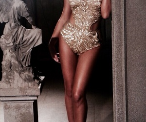 fashion, gold, and body image