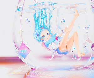 anime, water, and kawaii image