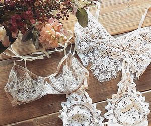 lingerie, bra, and lace image