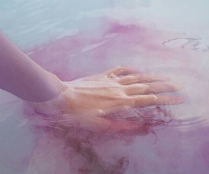 hand, pink, and tumbler image