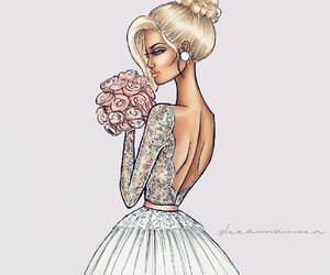 art, drawing, and fashion sketch image