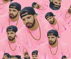 Drake, pink, and wallpaper image