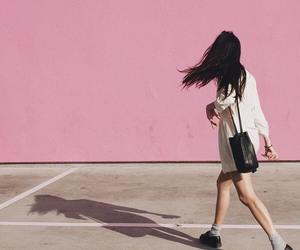 pink, girl, and grunge image