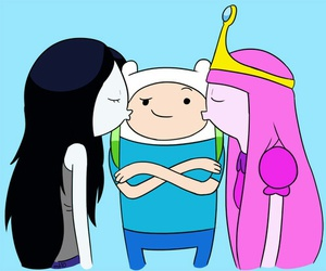 adventure time, finn, and marceline image