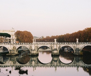 bridge, river, and rome image