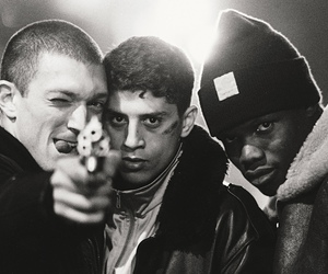 la haine, movie, and black and white image