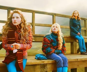 harry potter, luna lovegood, and hermione granger image