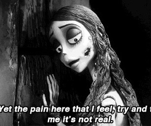 corpse bride, quotes, and pain image