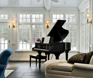 piano, room, and house image