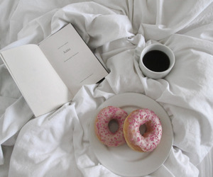bed, reading, and book image