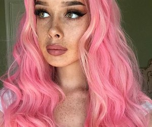 pink hair and beautiful image