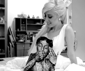 girl, blonde, and lil wayne image