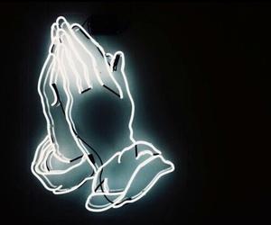 Drake, light, and neon image