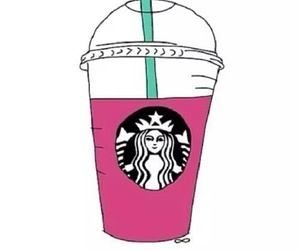 starbucks, pink, and overlay image