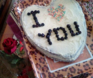 cake, love, and rose image