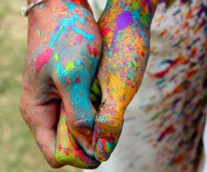 love, hands, and colors image