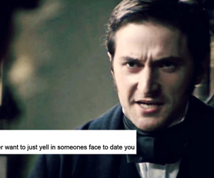 date, richard armitage, and text image