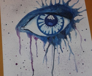 art, blue, and blue eye image