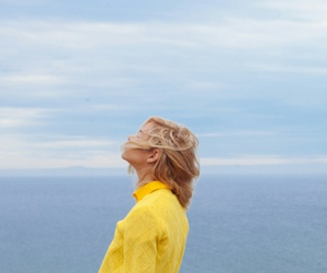 yellow, sea, and blue image